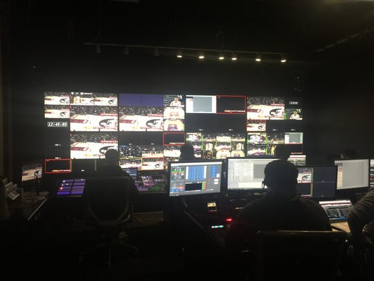 A look inside the FSU control room during Saturday's ACC Network broadcast of the FSU-Miami game.