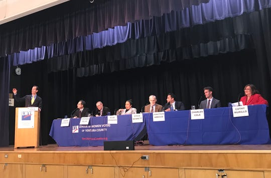 All seven candidates running for the 37th California Assembly District participated in a forum hosted by the League of Women Voters of Ventura County Feb. 6, 2020.