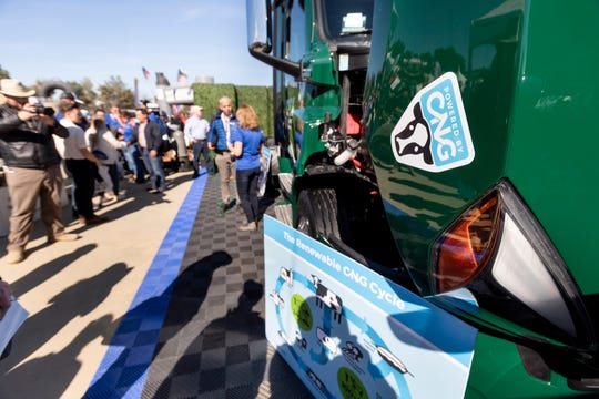 SoCal Gas Company, Cummins Westport and Western Milling unveiled  the first of 30 new near-zero emissions trucks, fueled by CNG, at World Ag Expo on Tuesday, February 11, 2020. The trucks will be used at Western Milling's operation in Goshen, Calif.