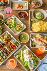 Tacos at Hudson Taco include a Baja fish taco with lager-battered fried cod and slaw, a vegetarian taco with Portobello mushrooms and blistered shishito peppers, and the citrus shrimp taco with avocado, slaw and jalapeno