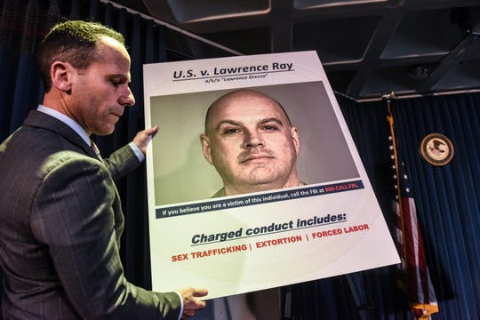 """United States Attorney for the Southern District of New York Geoffrey Berman announces the indictment against Lawrence Ray aka """"Lawrence Grecco"""" on February 11, 2020 in New York City."""