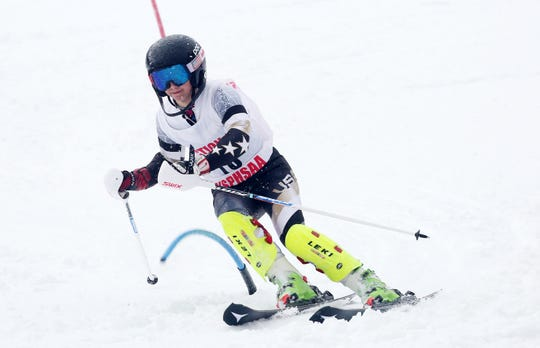 Nyack 8th-grader Alyssa Lundberg competes in slalom during the Feb. 10, 2020 Section 1 Skiing Championships at Hunter Mountain. Lundberg finished third in giant slalom and 10th in slalom out of 60 skiers and was fifth in the coveted girls skimeister (lowest time among two slalom and two GS runs) competition. She is The Journal News/lohud Rockland girls skier of the year.