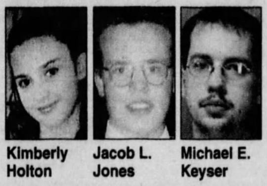Jacob L. Jones and Michael E. Keyser killed Kimberly Holton, a 16-year-old from Dover, on Sept. 30, 2003.