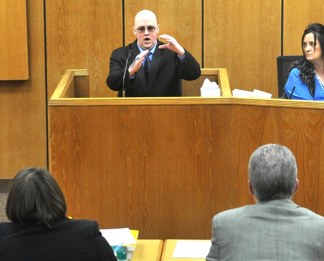 Christopher Wayne Morriss testified in his own defense Tuesday morning during his child sexual abuse trial in 89th District Court.