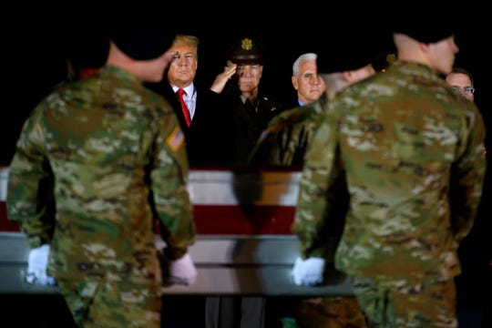 Food President Donald Trump and Vice President Mike Pence observe the dignified transfer of two US soldiers killed in Afghanistan.