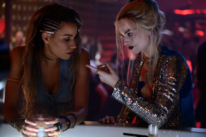 """Black Canary (Jurnee Smollett-Bell, left) teams with Harley (Margot Robbie) in """"Birds of Prey (And the Fantabulous Emancipation of One Harley Quinn)."""""""