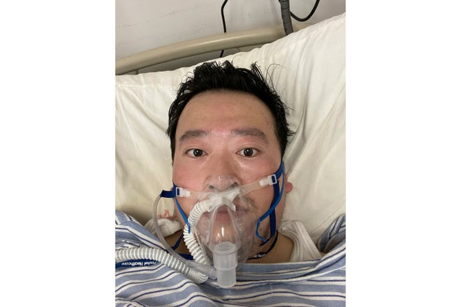 Dr. Li Wenliang hospitalized in Wuhan, China, in January 2020.