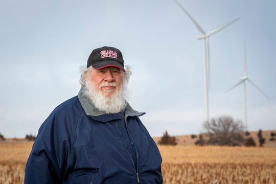Tom Cunningham says the income from leasing his land has helped him to retire. Big businesses build and expand their wind turbine systems on the land of Kansas farmers, specifically in Concordia. Some of these corporations compensate the farmers and surrounding communities.
