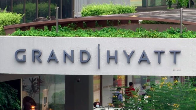 A middle-aged British businessman who stayed at the Grand Hyatt in Singapore in January unwittingly carried the new virus across two continents and unwittingly infected at least five people upon his return to Europe.