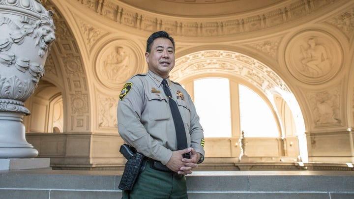 San Francisco Sheriff Paul Miyamoto, the first Asian-American sheriff in the history of California, was sworn into his new position on Jan. 8, 2020.