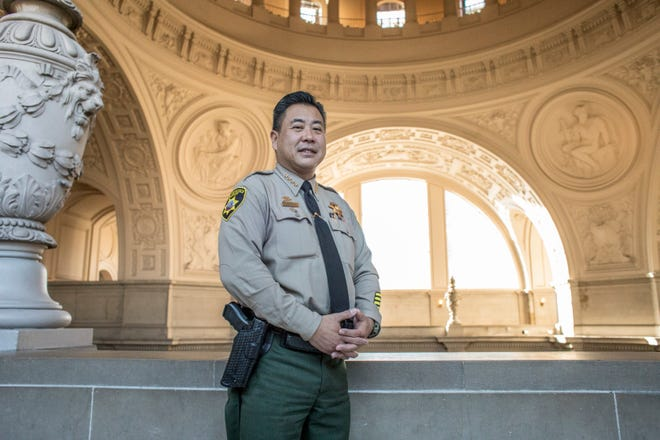 San Francisco Sheriff Paul Miyamoto, the first Asian American sheriff in the history of California, was sworn into his new position on Jan. 8, 2020.