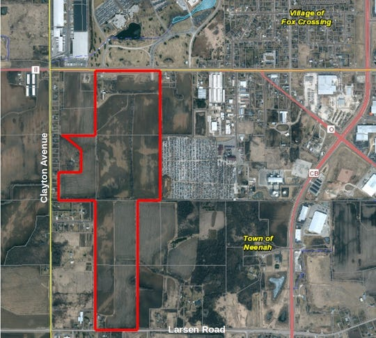 The Neenah Joint School District is proceeding with the $3.4 million purchase of a 217-acre property south of Winchester Road and east of Clayton Avenue in the town of Neenah. An April 7 referendum will ask voters to approve borrowing $114.9 million to help pay for the construction of a $157 million high school on the site.