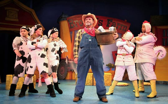 "Joan Marcus in a scene from the Theater USA traveling production of ""Click, Clack, Moo,"" which will be presented at 2 p.m. Sunday at the Paramount Theatre."