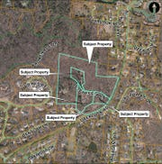 An 80-townhome development for Overlook Road was approved by the Buncombe County Board of Adjustment on Feb. 12, 2020.