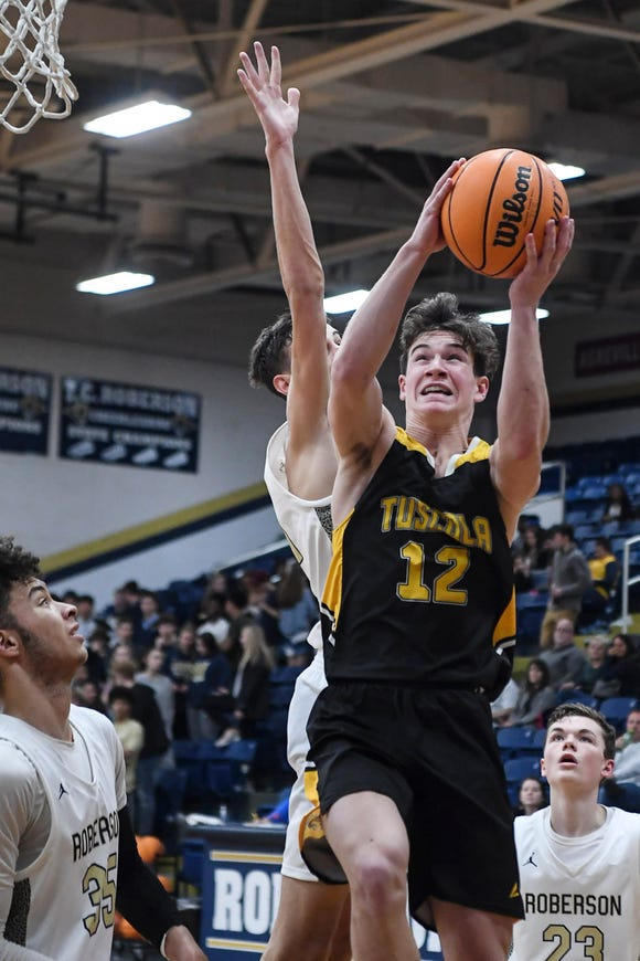Roberson defeated Tuscola 65-56 in Asheville February 11, 2020.