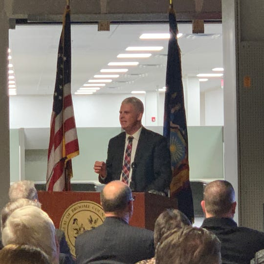 Broome County Executive Jason Garnar delivered his fourth State of the County address Tuesday, Feb. 11, 2020 in Johnson City.