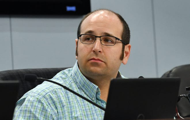 Brevard County Commission Bryan Lober chair, during Tuesday's commission meeting.