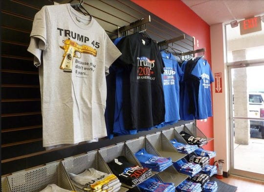 The Trump Store in Bensalem, Pennsylvania, offers a number of ways for the presidents' fans to advertise their support.