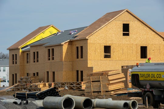 New homes at Branch Village in Camden's Centerville neighborhood are now under construction.