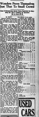 A clipping from the Chillicothe Scioto Gazette on Jan. 26, 1935 that shows the game between the Waterloo Wonders and Central Catholic.