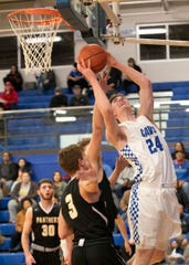 Chillicothe's Brandon Noel goes up for a shot during a 75-39 win over Miami Trace on Feb. 11, 2020, in Chillicothe, Ohio.
