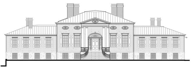 Front/West elevation of the historic house.