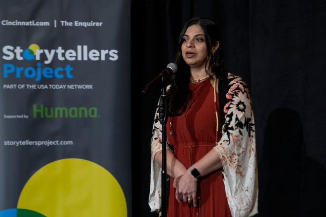 Yasmeen Allen shares her story of finding true love and the heartbreak that came with it during the Cincinnati Storytellers Project: Love and Heartbreak, Tuesday, Feb. 11, 2020.