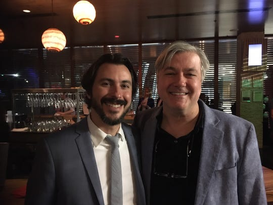 """""""McMillion$"""" co-director Brian Lazarte with CCM's electronic media division head Kevin Burke at the """"McMillion$"""" premiere."""