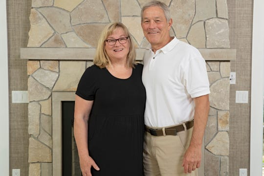 Kirk and Mary Ferentz at their home in Iowa City on Sunday, Jun 30, 2019. Kirk and Mary are the recipients of the Robert D. Ray Character Award.