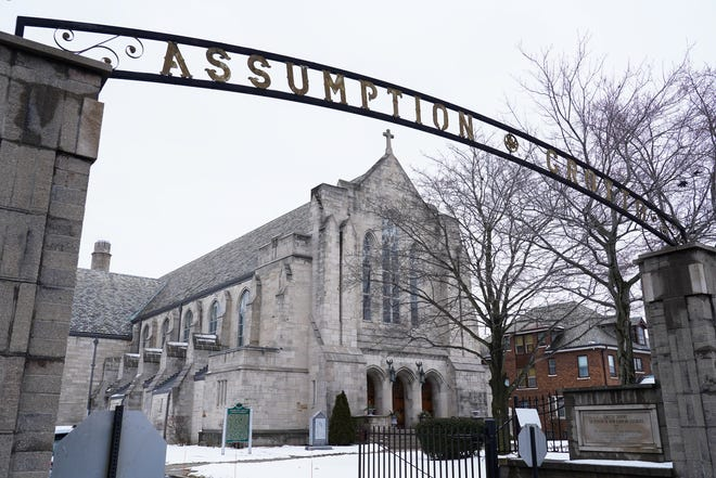 Assumption Grotto Catholic Church in Detroit is seen on Monday, February 10, 2020.