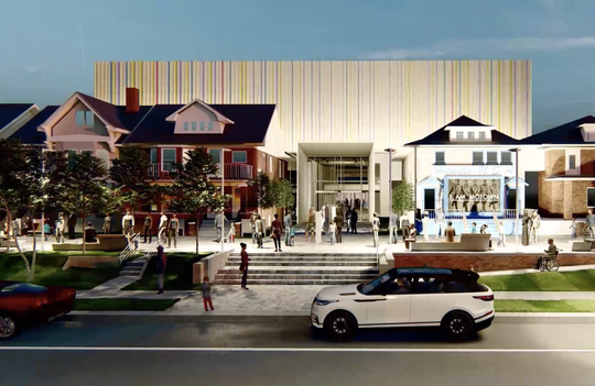 A view of the Motown Museum's planned $50 million expansion is seen in this screenshot from an architectural animation.