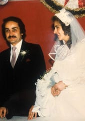 Ahmed Berry and wife Wafa Haider-Berry at their wedding
