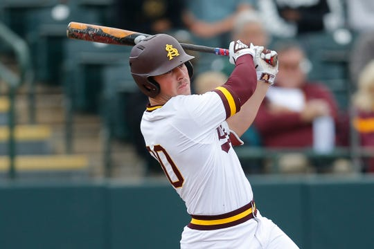 Arizona State's Spencer Torkelson batted .351, with 23 homers, and a .707 slugging percentage last season as a sophomore.