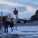Parent Brittany Ramos filmed a CSU police car driving past a school bus on Wednesday morning while the bus flashed its red lights.