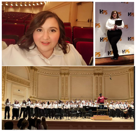 Dalena Pakalske, a Southern Door High School sophomore, performed in the High School Honors Performance Series with international student singers at Carnegie Hall.