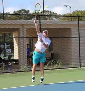 In the Men's 4.5 Skilled Singles, unseeded Richard Hawes defeated 7th seed Aarman Sachdev in three sets 6-2, 2-6, 10-8 in the 2020 Calvo's SelectCare Grand Prix Tennis Tournament.