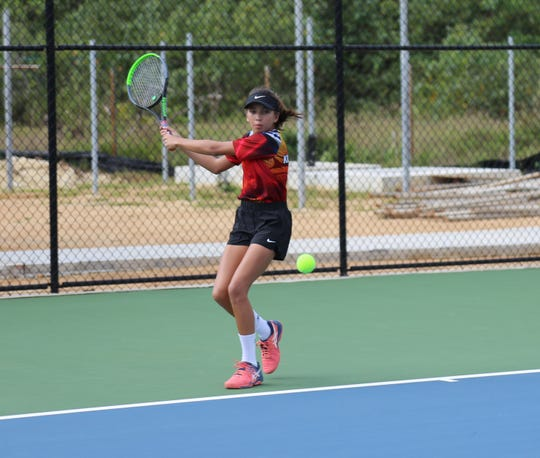 Sydney Packbier beat Fremont Gibson 7-6(3), 6-3 in the 2020 Calvo's SelectCare Grand Prix Tennis Tournament.