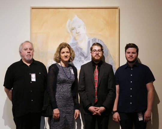 Phil and Lori with their two son's, Diego and Emiliano Lasansky at the Cedar Rapids Museum of Art.