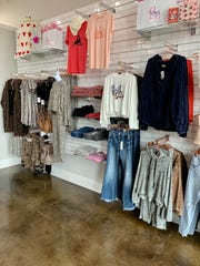 Distressed denim, styles in animal prints and lounge wear sets are popular at Ray's Teen Boutique in Ridgeland.
