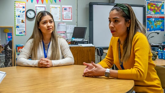Sisters Erika Rocha and Dulce Perez teach Spanish immersion at Alice Boucher Elementary.
