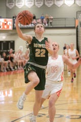 Maeve St. John scored a team-high 10 points for Howell in a 64-40 loss at Brighton on Tuesday, Feb. 11, 2020.
