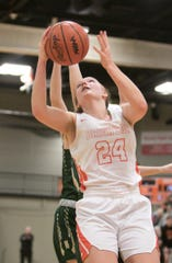 Brighton basketball player Sophie Dziekan was the readers' choice for Livingston County Female Athlete of the Year.