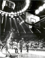 Lillie Mason's basket at the buzzer gave the Western Kentucky University women's basketball team a 92-90 victory over No. 1-ranked Texas in the second round of the 1985 NCAA Tournament at E.A. Diddle Arena in Bowling Green, Ky.