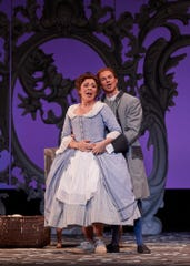 """Andrè Courville and Tess Altiveros play Figaro and Susanna in Kentucky Opera's """"The Marriage of Figaro."""""""