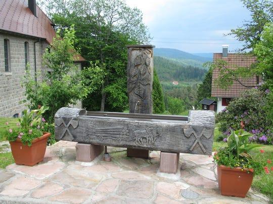 Dorfbrunnen, the village well in Hundsbach, Germany.