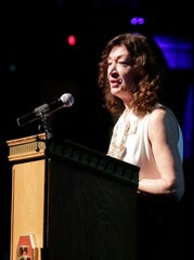 The Chamber of Manitowoc County's Karen Nichols speaks before the Awards of Distinction, Tuesday, February 11, 2020 at the Capitol Civic Centre in Manitowoc, Wis.