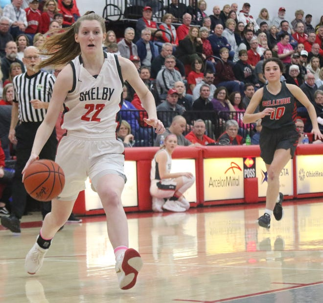 Shelby's Emma Randall led the Lady Whippets to the 2019-20 Richland County Girls Basketball Power Poll championship.