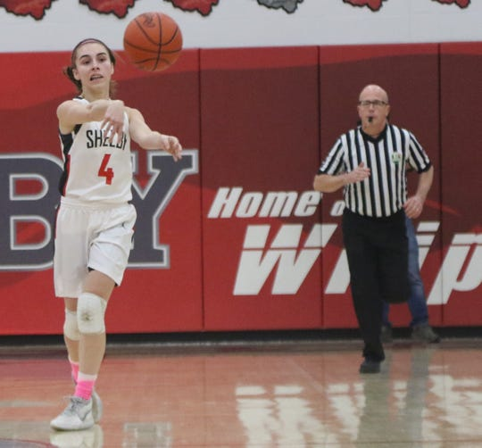 Shelby sophomore Sophie Niese scored 10 points in a win over Bellevue on Tuesday night.