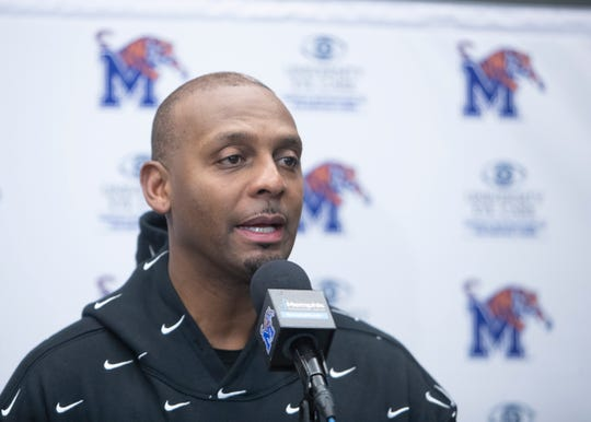 Memphis Tigers Head Coach Penny Hardaway speaks with the media on Tuesday, Feb. 11, 2020 at the Laurie-Walton Family Basketball Center.