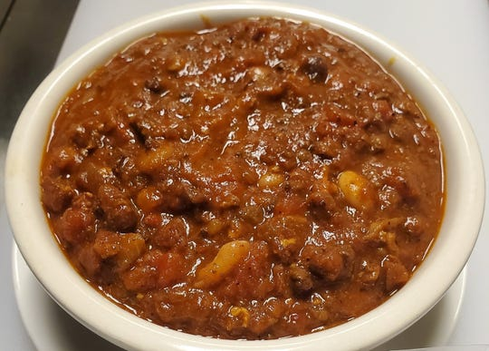 """Double A's Homemade Chili is a """"secret family recipe"""" featuring five different meats, said Chris Potratz, who co-owns The Neighbors Bar and Grill in Waukesha with his sister, Sarah San Miguel."""